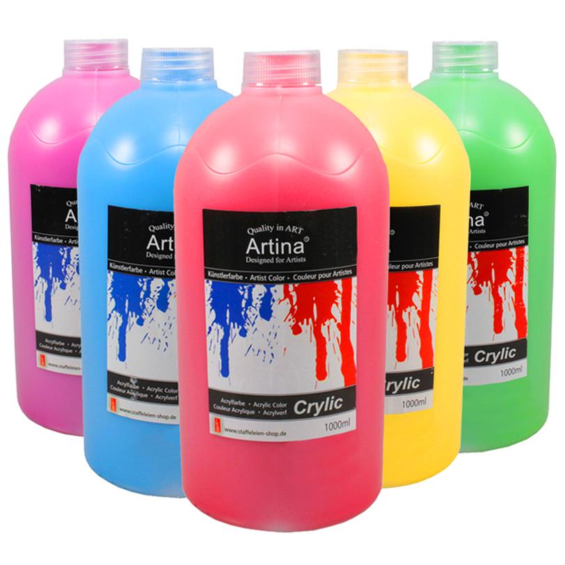 acrylfarben 1000 ml malfarbe acrylfarbe k nstlerfarbe farbe malen tuben k nstler ebay. Black Bedroom Furniture Sets. Home Design Ideas