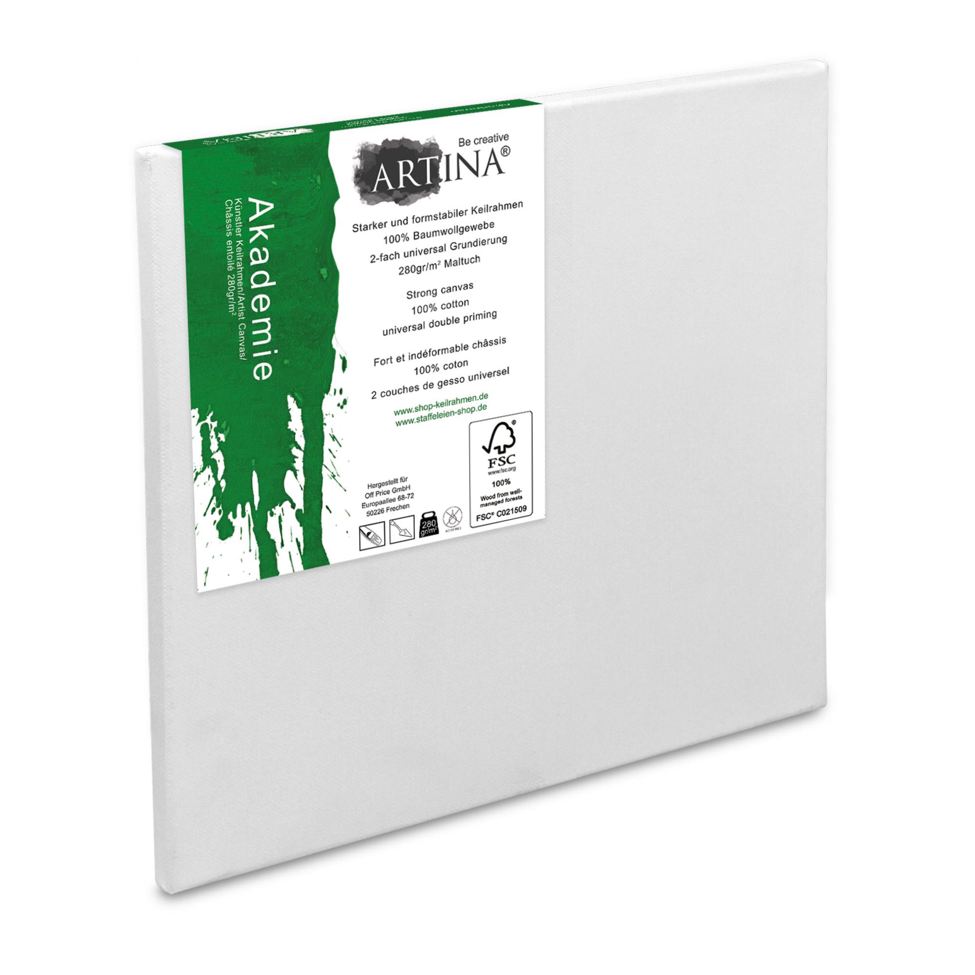 10er Set 10x10cm FSC® Keilrahmen Leinwände Leinwand Malen Künstlerbedarf Maltuch