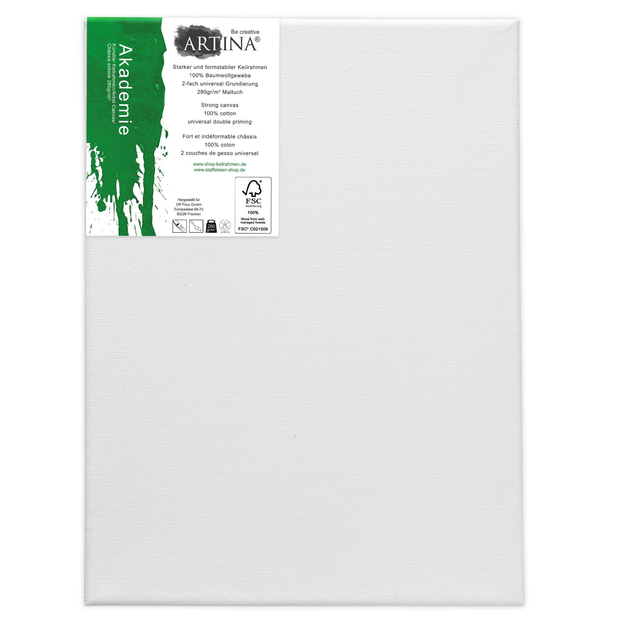 10er Set 20x20cm 30x40cm FSC® Keilrahmen Leinwand Leinwände Malen Künstlerbedarf